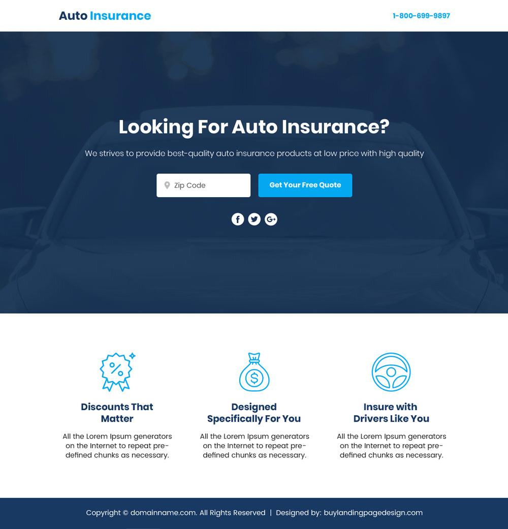 Auto Insurance Lead Funnel Responsive Lp 27 Autoinsurance