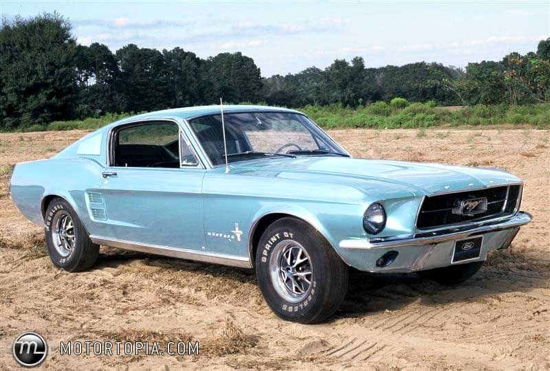1967 Ford Mustang Fastback In Electric Baby Blue