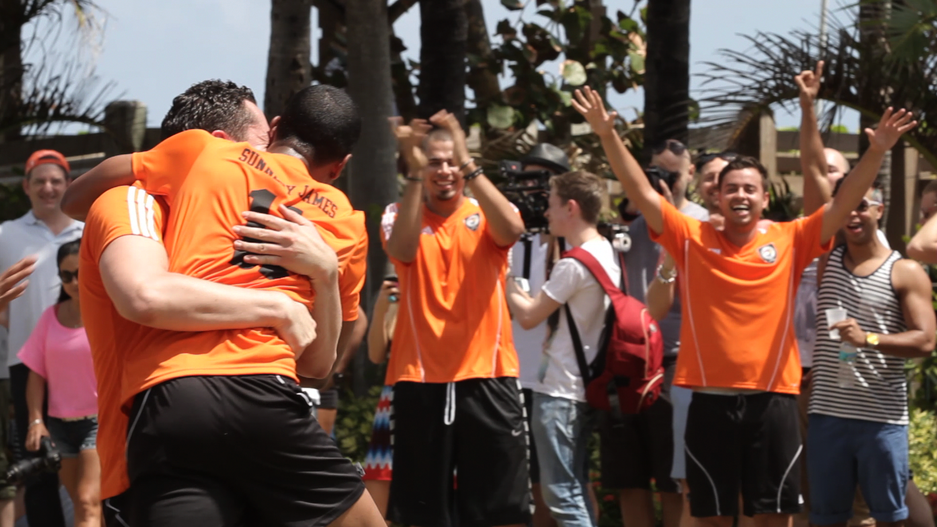 Team Netherlands celebrates a score in the (RED) DJ
