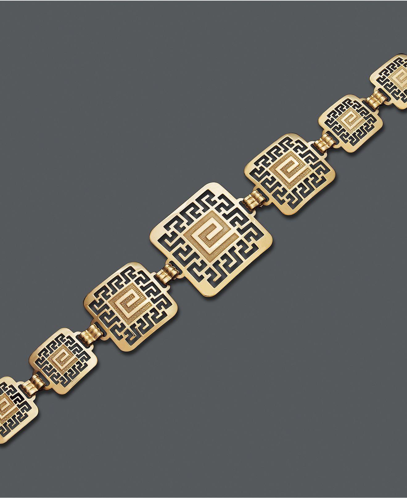 Bracelet Greek Key Square In 2019 Sterling