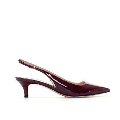 ZARA DESTALONADO España Colección Mujer MEDIO CHAROL Zapatos TACÓN Nueva n7RwqO70C