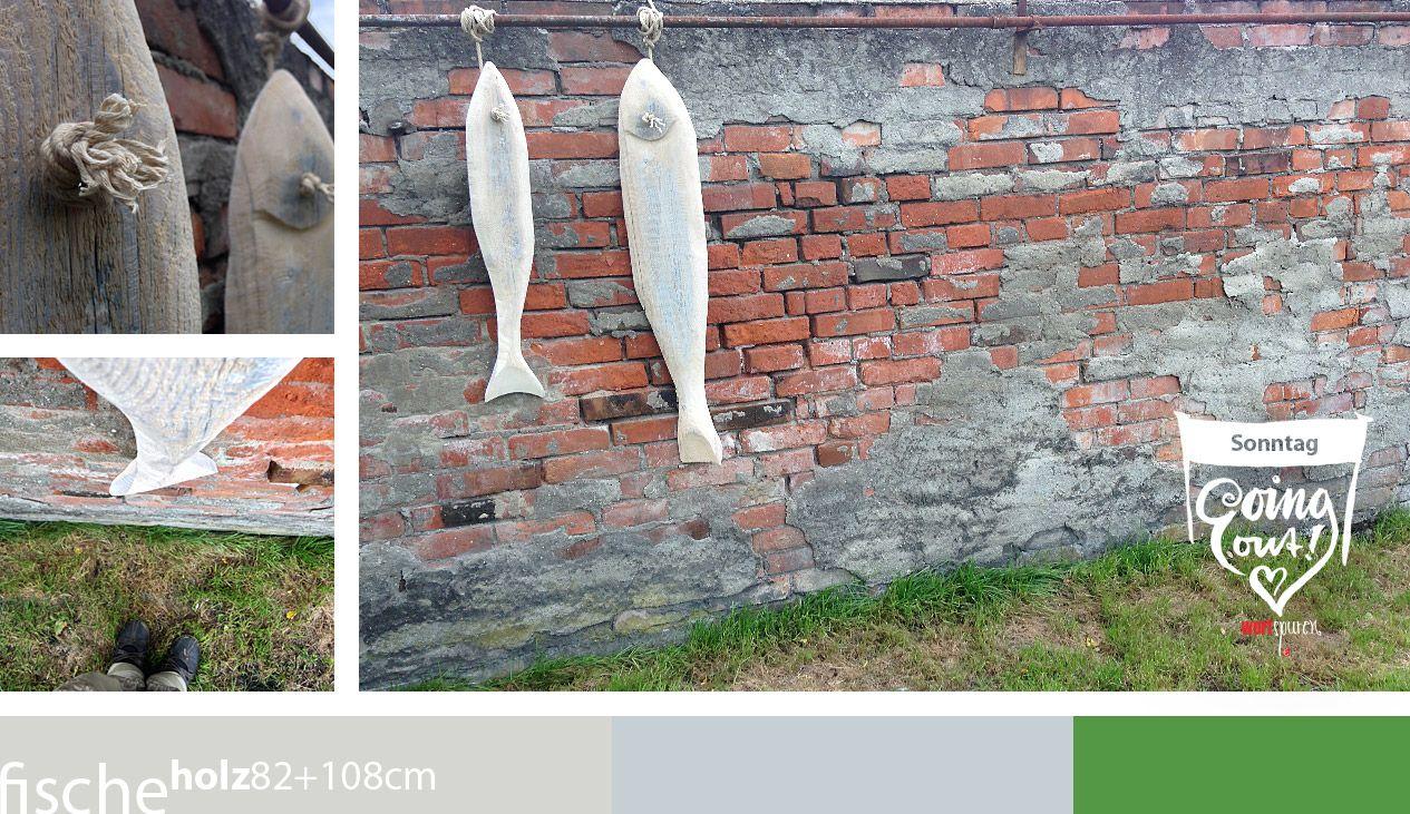Diese Selbst Gemachten Holzfische Hängen Als Dekoration In Unserem Garten. # Basteln #holz #