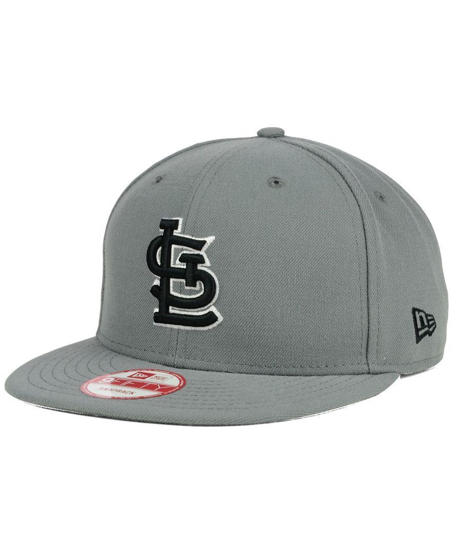 e85af24789c New Era St. Louis Cardinals Gray Black White 9FIFTY Snapback Cap ...