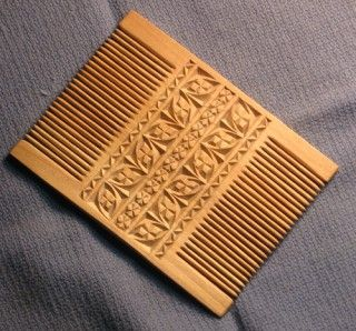 Wood comb in the style of Norman  comb  By master_tomas