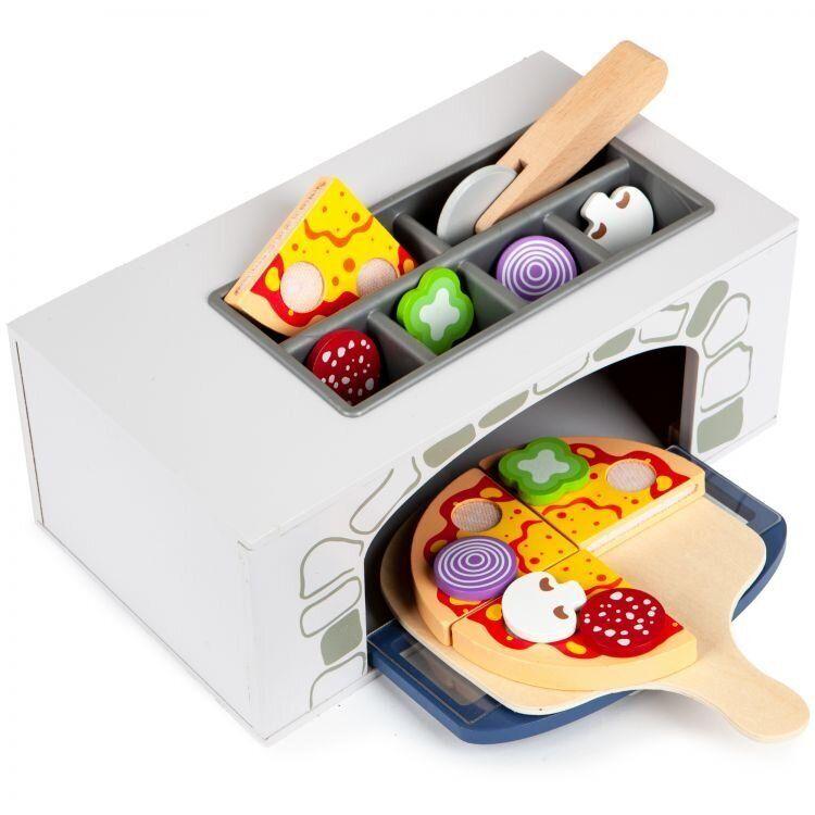 Children's wooden pizza oven + kitchen utensils Ecotoys