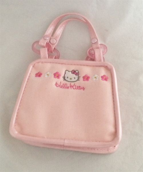614e85bd575c Hello Kitty Vintage 1997 pink vinyl mini purse bag RARE Sanrio smile unused
