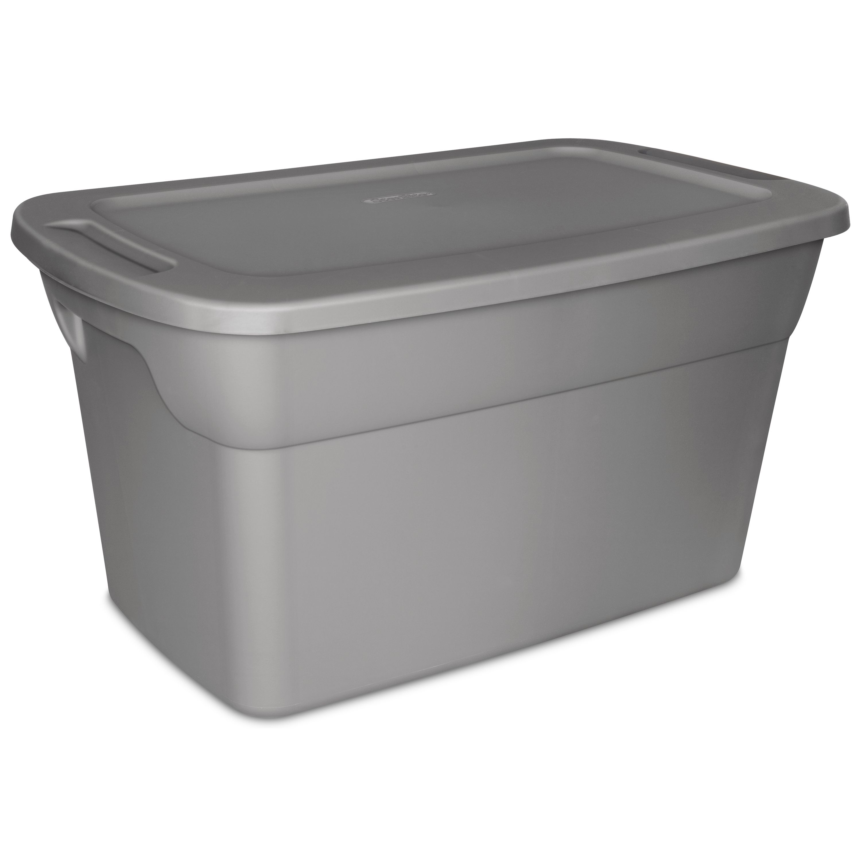 Hefty 72qt Clear Hi Rise Storage Bin With Stackable Lid Gray