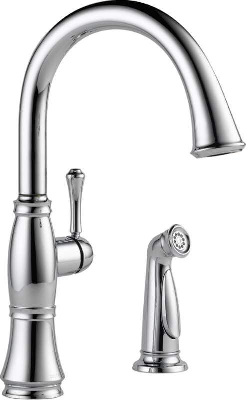 Delta 4297Dst Cassidy Kitchen Faucet With Side Spray  Includes Impressive Single Handle Kitchen Faucet Design Decoration
