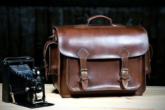 Genuine Leather Camera Bag L