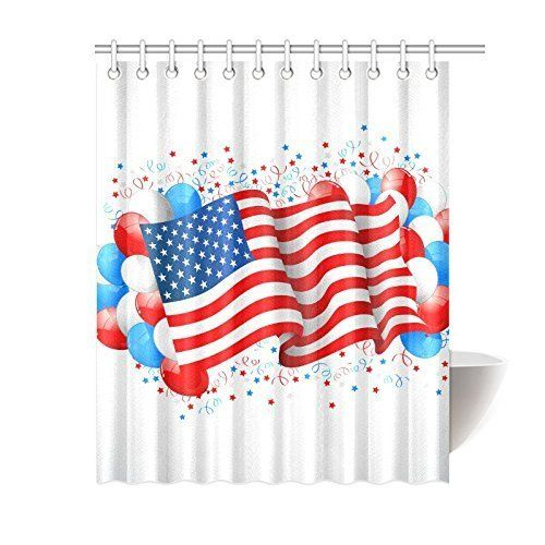 Cozybath Independence Day 4th Of July Waterproof Polyester Fabric