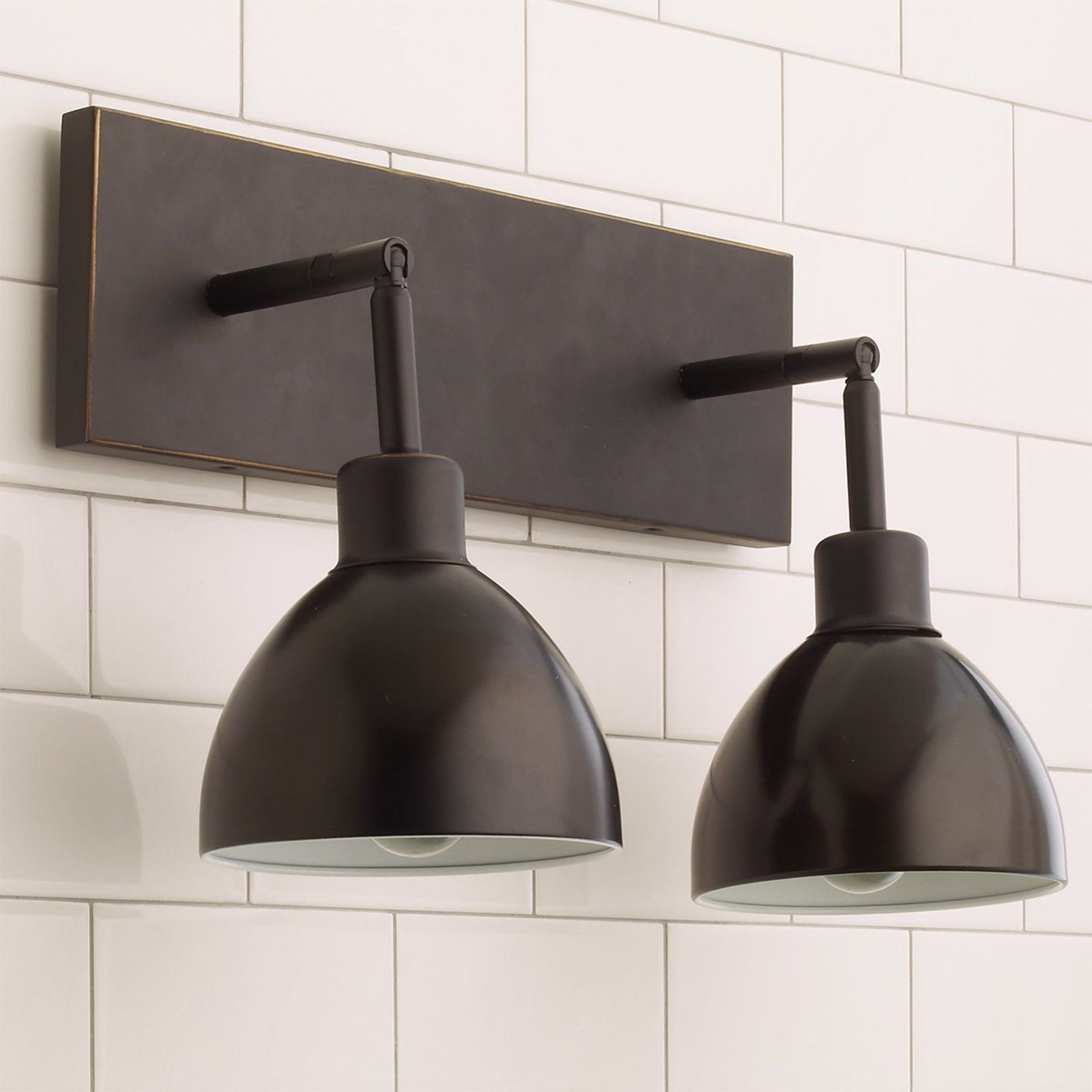 light wall vanity double cage kichler bayley industrial head lighting chic lights bath outstanding fixtures bronze bathroom master style olde modern
