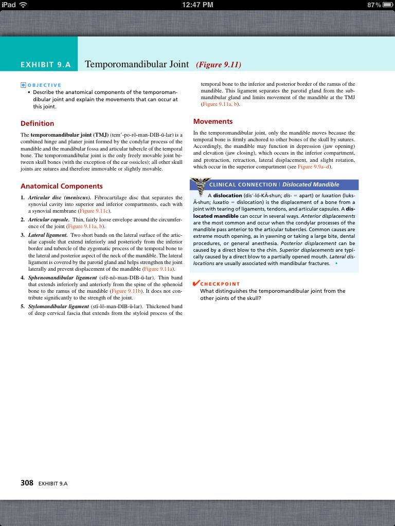 Principles of Anatomy and Physiology, Chapter 9, Joints, 20, book pg ...