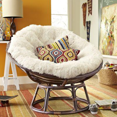 Delightful Papasan Brown Chair Frame