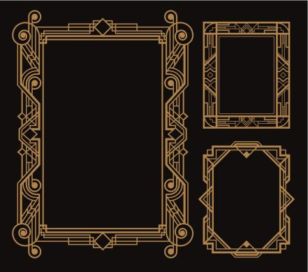 Art Deco Border Vector Id463316453 441389 Great Gatsby Art