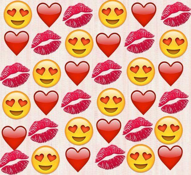 Heart Lips Love Red Wallpaper Emojis Cute Emoji Wallpaper
