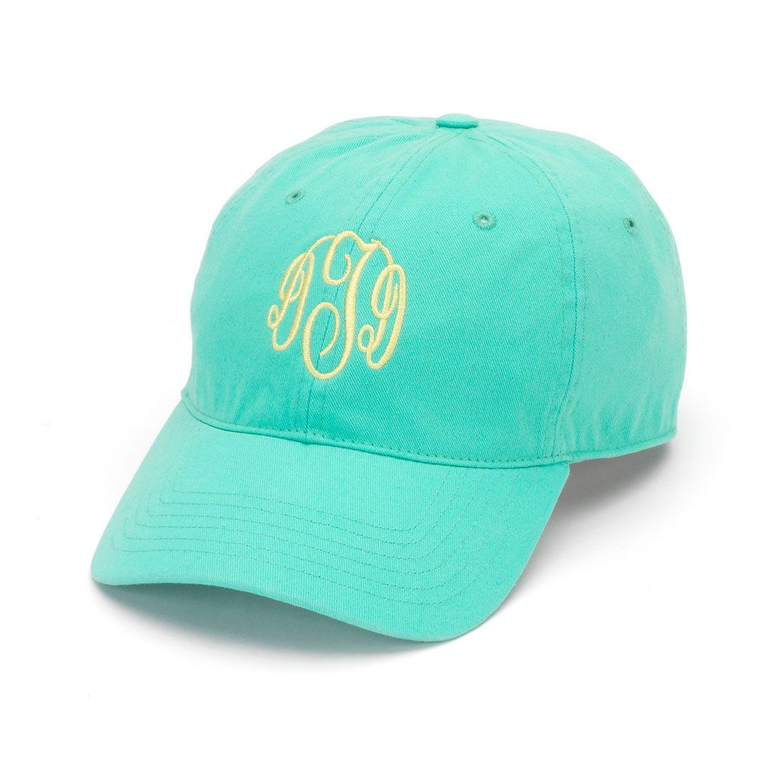 Mint Monogrammed Hat Monogram Cap with Cool Mesh Lining and Adjustable Leather Strap Bridal party or bridesmaid gift by LilyLouiseDesigns on Etsy