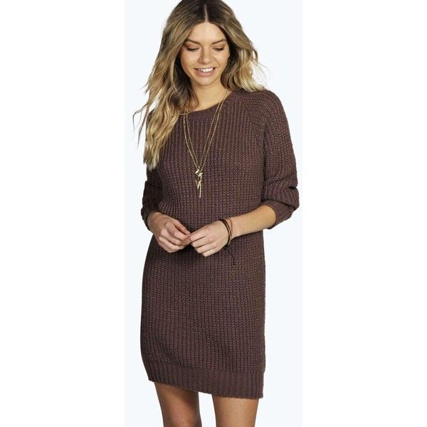 badccc3e588 Boohoo Maria Soft Knit Jumper Dress featuring polyvore