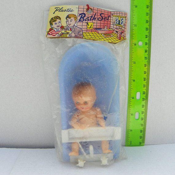 Vintage 1960's Plastic Baby Bath Set Made in Hong Kong ...
