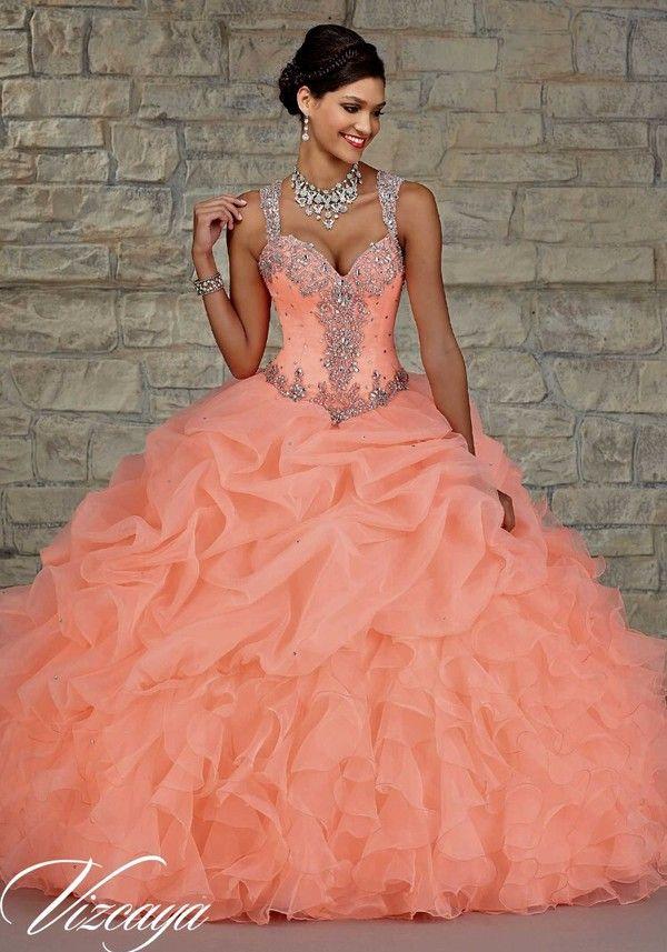af3cc951ab6 coral Quinceanera Dresses 2015