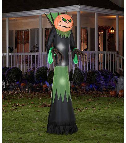 Gemmy Pumpkin Reaper Giant Airblown Halloween Decoration Halloween - inflatable halloween decoration