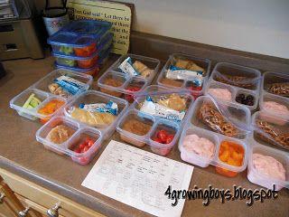 4 Growing Boys: School lunch ideas