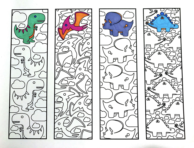 Cute Dinosaur Bookmarks