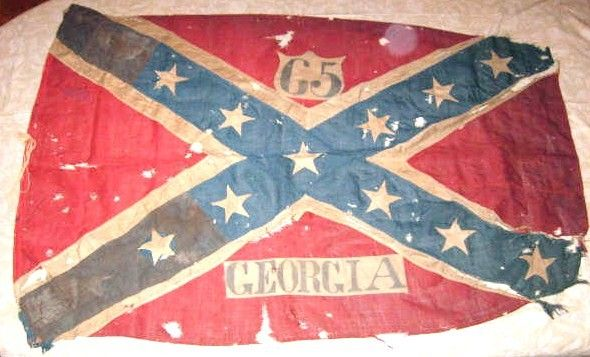 65th Georgia Flag Carried At Franklin Notice The Bullet Holes Civil War Flags War Flag Civil War Confederate