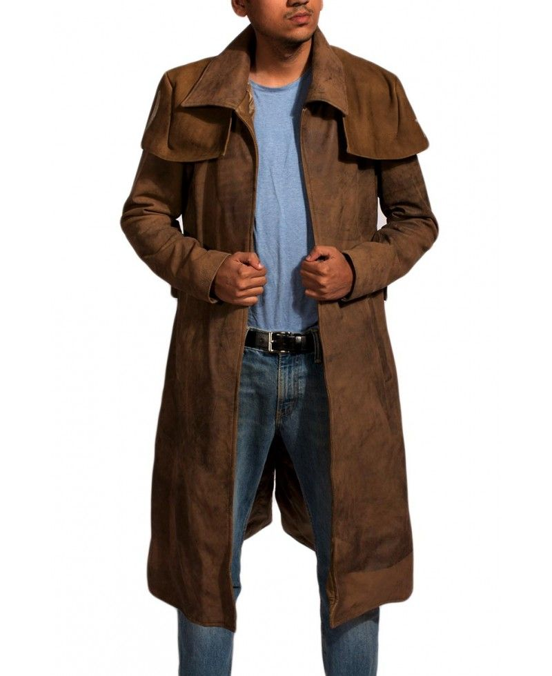 Army Brown Leather Duster Mens Duster Coat Black Leather Coat Brown Leather Coat