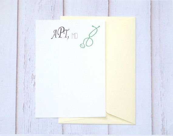 Medical Note Card Set  Doctor Note Card  Doctor Stationery
