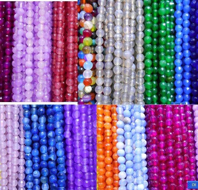 >> Click to Buy << New Fashion Natural Dyed Stone 8mm Faceted Round Loose   beads for DIY charms Jewelry Bracelets Necklaces  #Affiliate