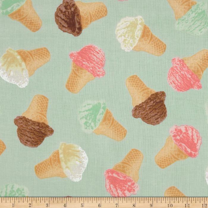 Retro Icecream Fabric