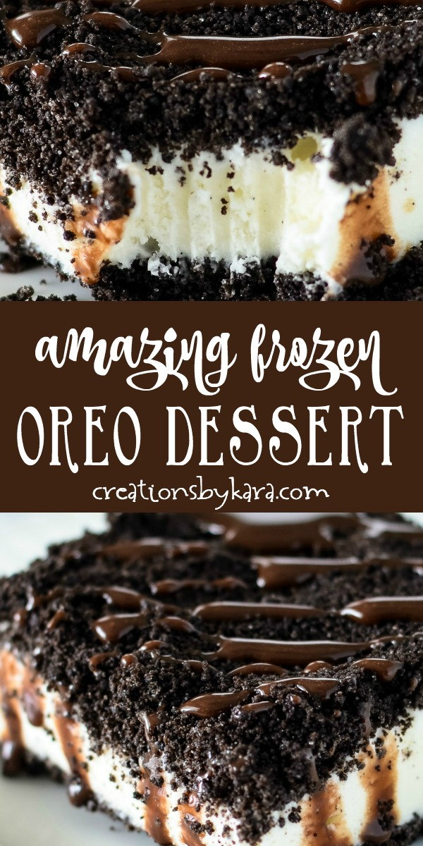 Amazing Frozen Oreo Dessert - everyone loves this frozen dessert, and it is so easy to make! You can use any flavor of ice cream.