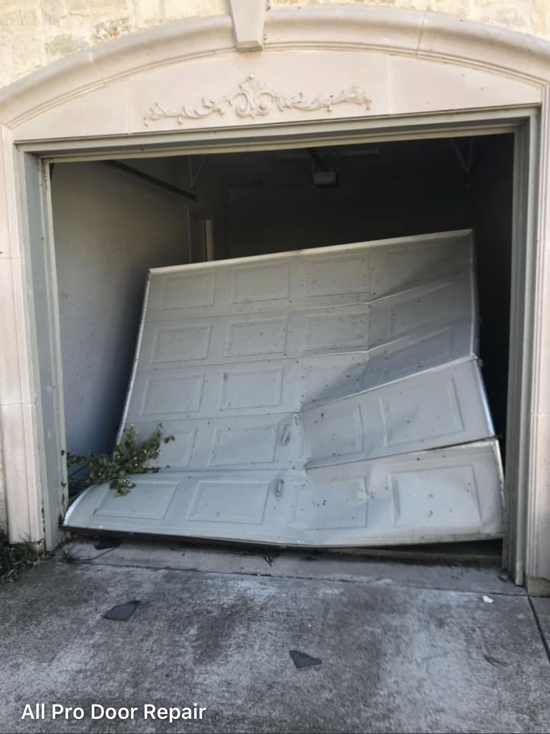 Before Picture Of A Garage Door We Replaced In Dallas Tx After A
