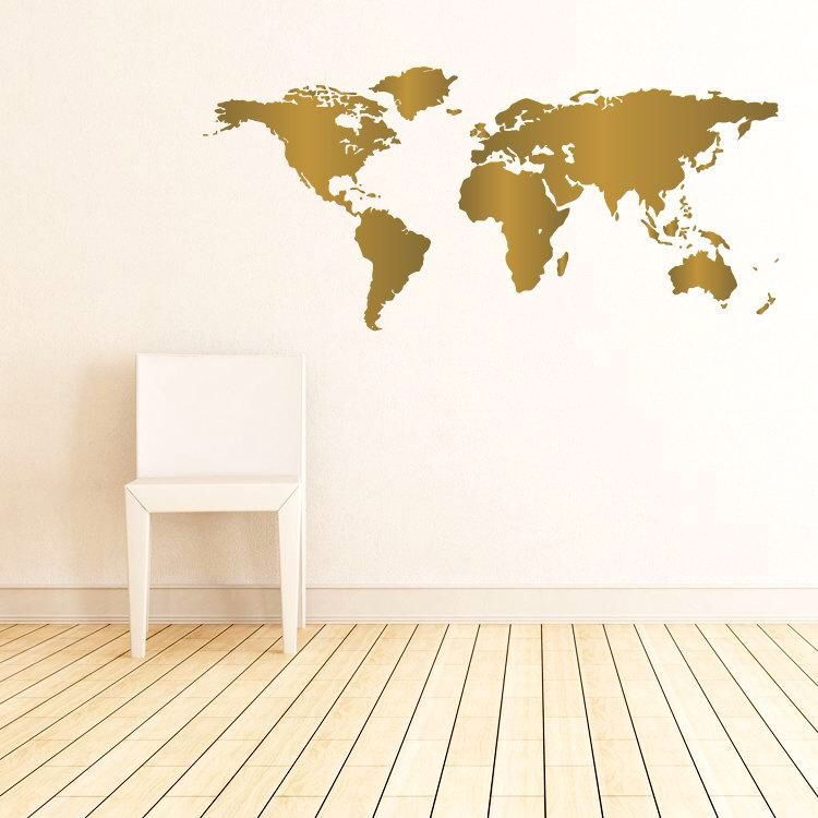 Un tableau or du monde la chambre pinterest explore world map wall decal map wall art and more gumiabroncs Gallery