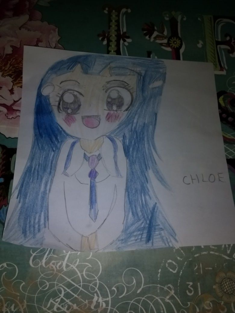 my drawing of chloe from glitter force i u0026 39 m only 10