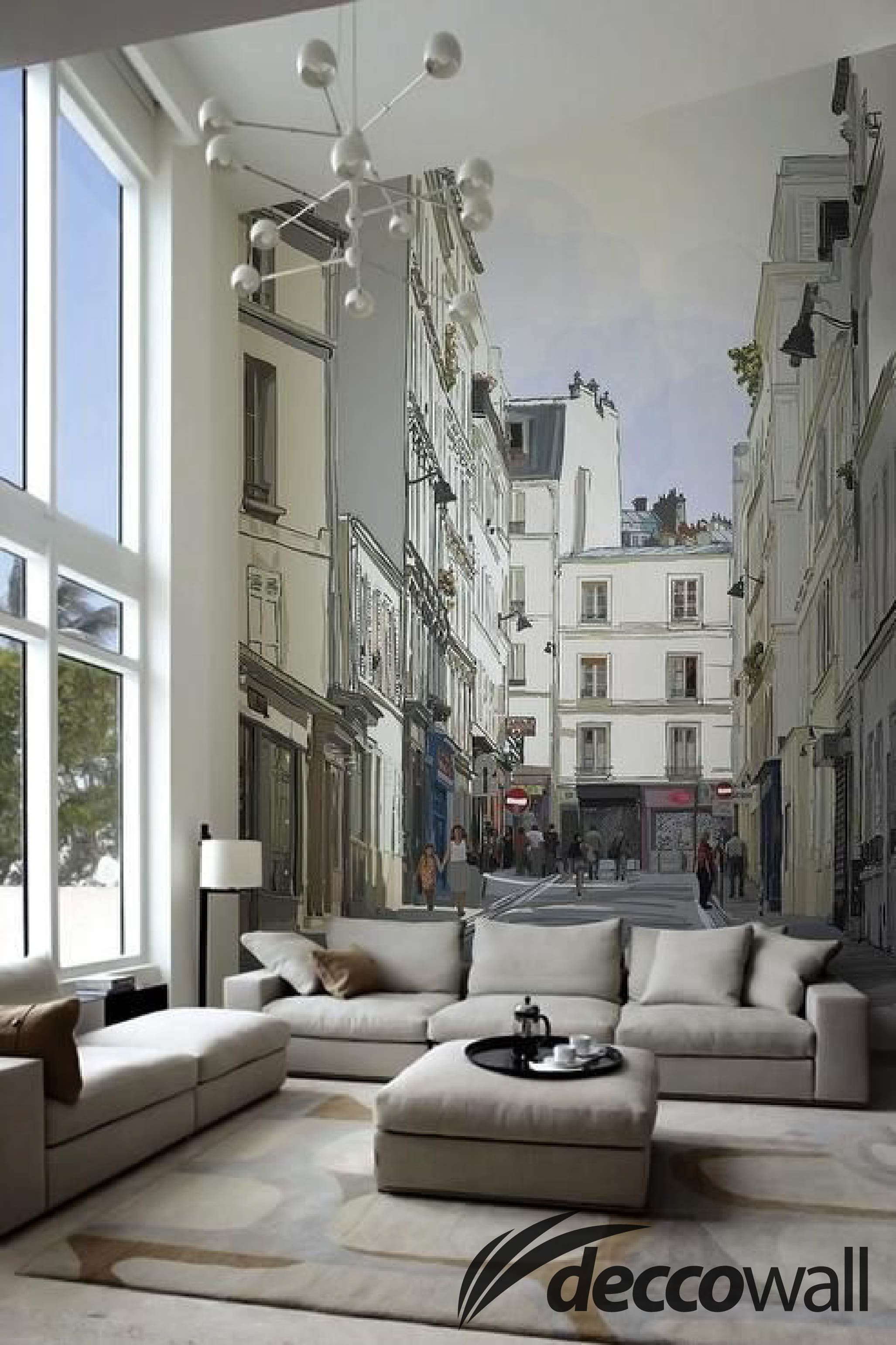 Such ambiance and adds some fun to an often perceived formal room city never sleeps wall murals by pixers