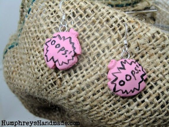 Whoopie cushion earrings $11