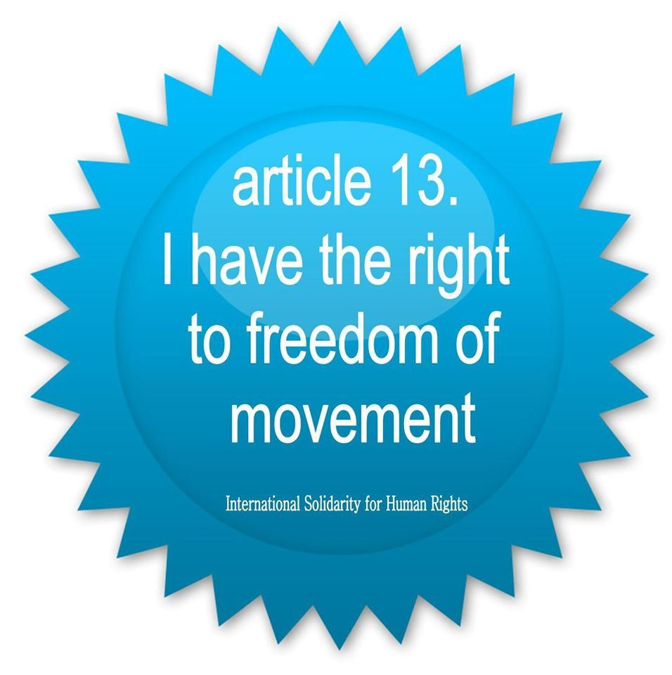 13 I Have The Right To Freedom Of Movement Freedom Of Movement Human Human Rights