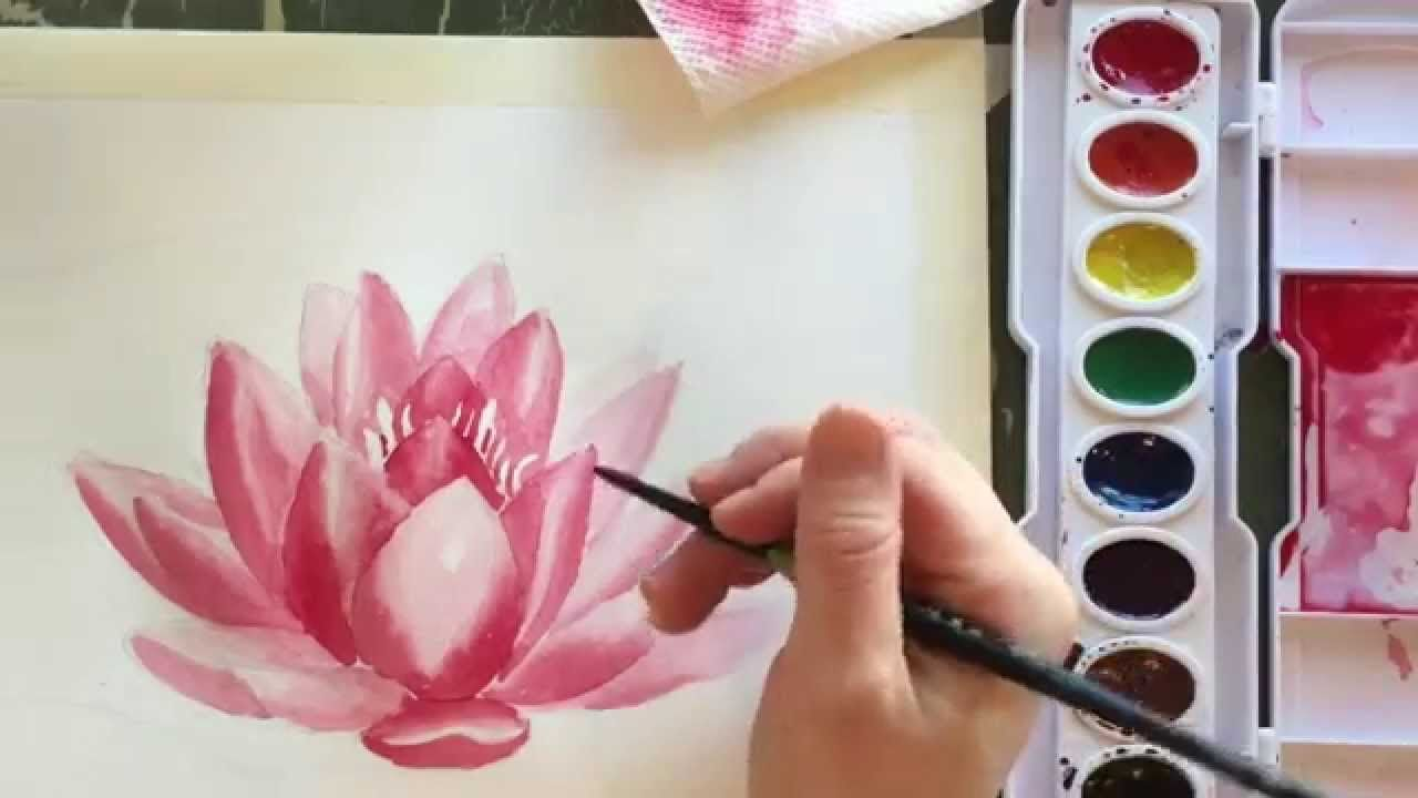 How To Paint Watercolor A Water Lilly This Is One Of The Best