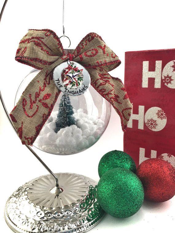 Personalized Christmas Ornament Custom Family by Jordanlynnsgems
