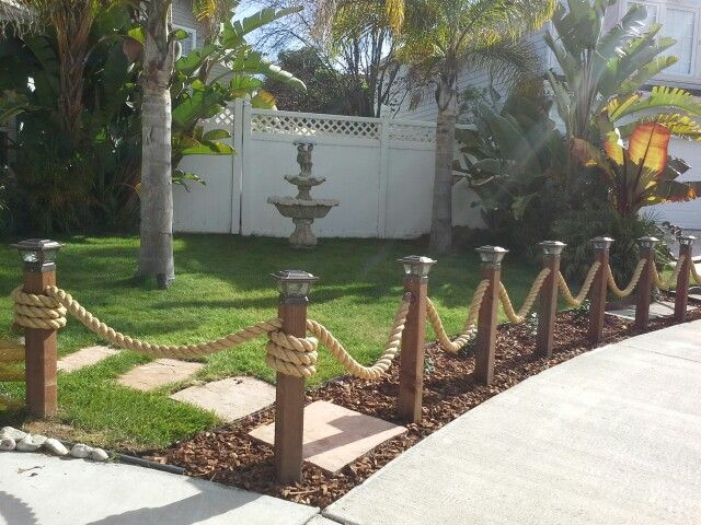 Nautical rope fence tips tricks shortcuts fun dyi for Decorative fences for backyards