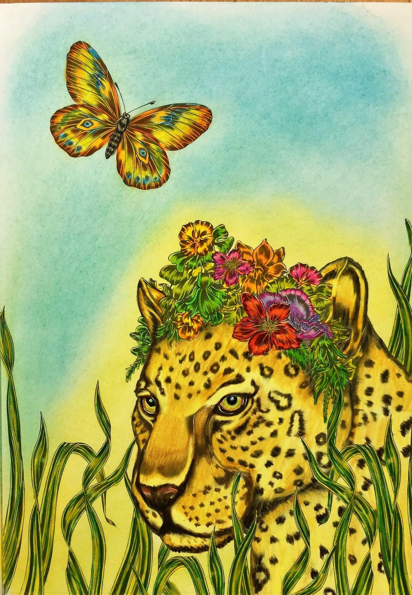 Coloured by juliahill emmafallmansafaricolouringbooksjuliahill
