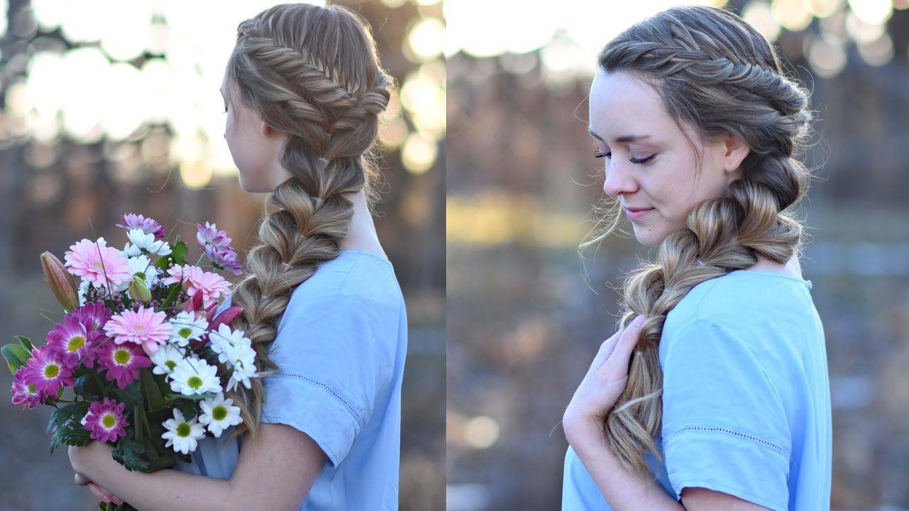 Girls Hairstyles Side Pull Thru Braid Combo  Prom Hairstyles  Cute Girls Hairstyles