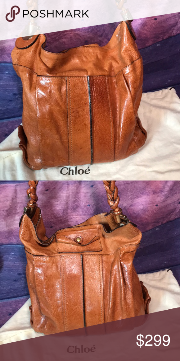 c3d358fc91 Chloè Heloise Leather Braided Strap Hobo Bag Chloè Heloise Leather Braided  Strap Hobo Bag & Chloe DustBag Sewn in leather tab marked: 03 - 10 - 50  Made In ...