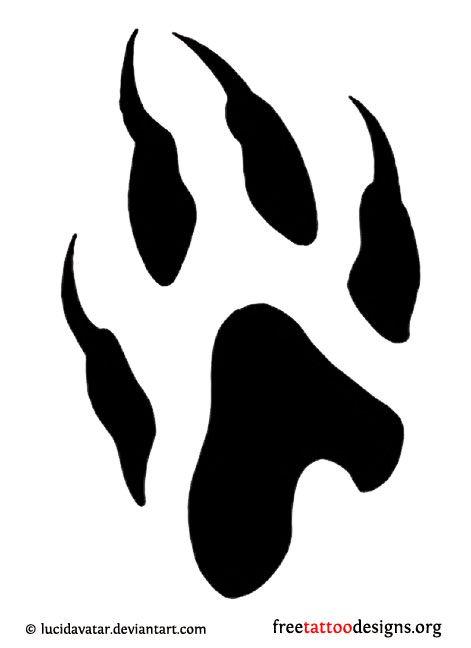 Wolf Paw Tattoo Idea Ink Wolf Tattoos Wolf Paw Wolf Paw Print