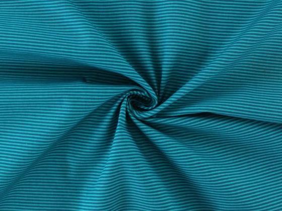 Baumwollstoff Starline-Streifen, petrol - Streifen - im Online-Shop ...