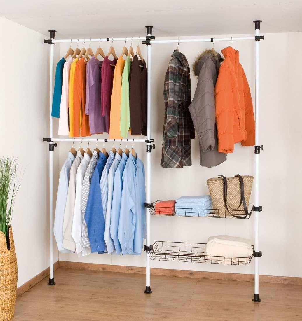 System Kleiderschränke rollbare kleiderschränke wenko teleskop garderoben system herkules