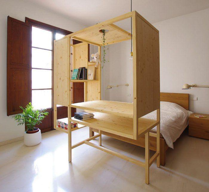 Aina meuble multifonctions par ted 39 a arquitectes m bler meuble mobilier de salon et studio - Meuble multifonction ...