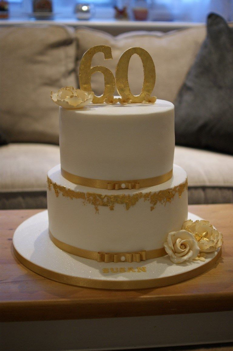 Amazing 30 Exclusive Picture Of Gold Birthday Cake With Images 60Th Funny Birthday Cards Online Alyptdamsfinfo