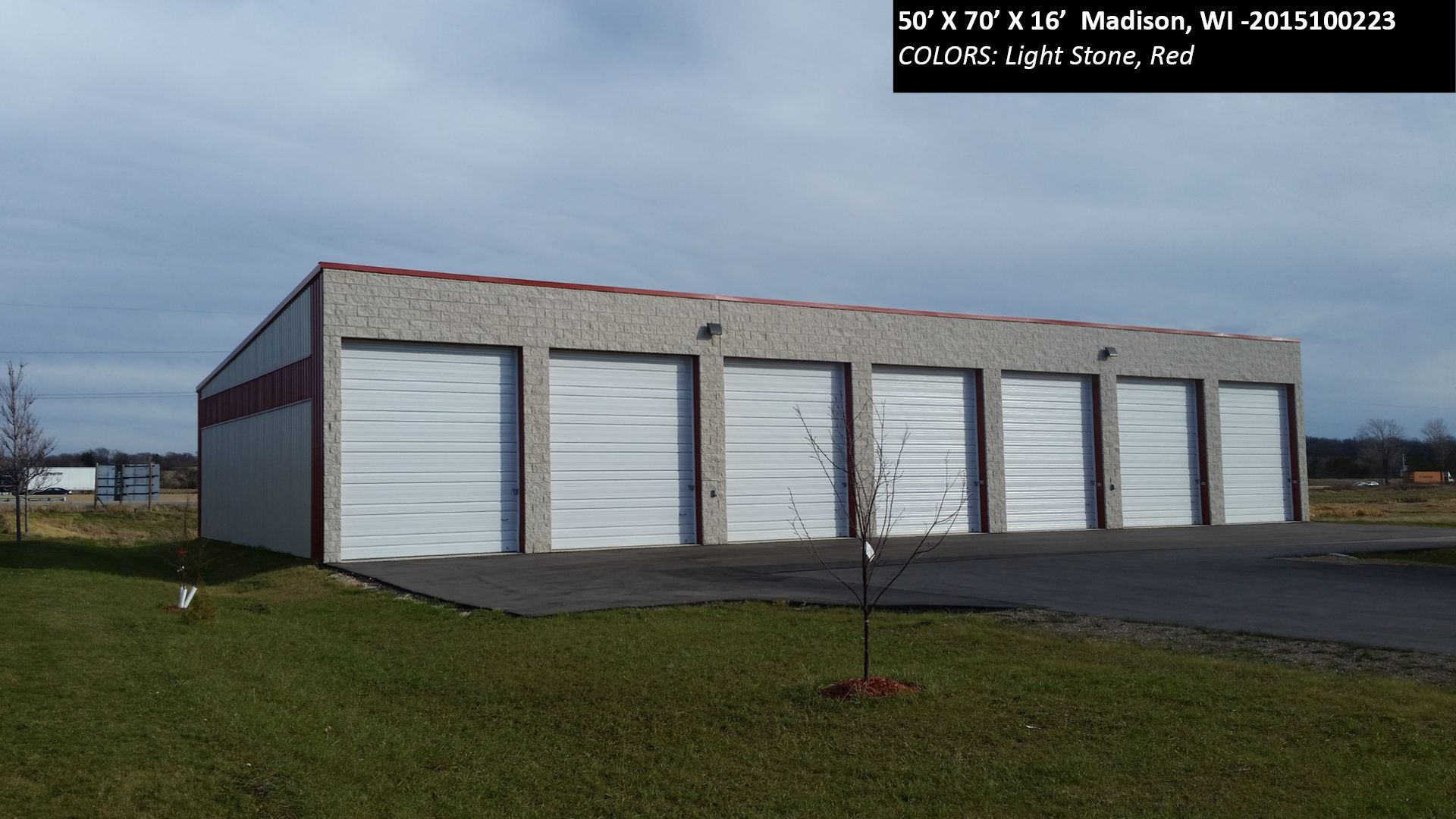 50 X70 X16 Cleary Rv Storage Building In Madison Wi Colors Light Stone Red Cleary Buildings Rv Storage Built In Storage